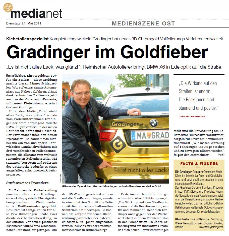 Artikel Medianet Mai 2011