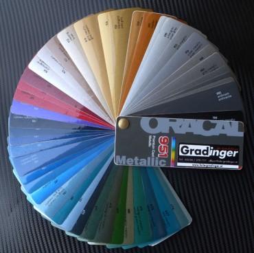 Farbfächer Oracal Metallic 951 für Vollbeklebungen