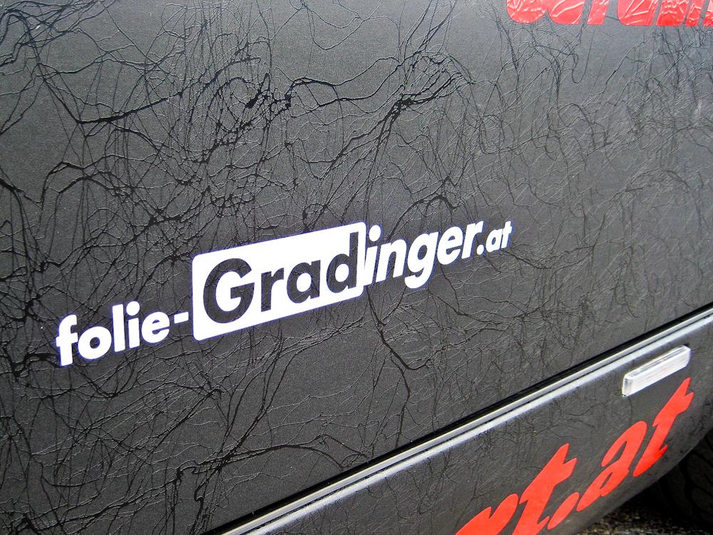 Folie Gradinger Wiesmann matt schwarz