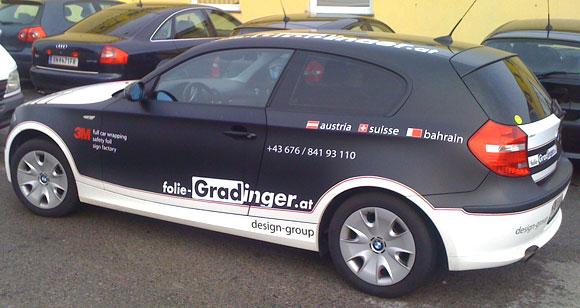 BMW-Vollfolierung matt schwarr